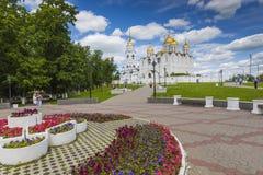VLADIMIR - CZERWIEC 05, 2016: Wniebowzięcie katedra przy Vladimir w su Zdjęcie Stock