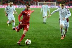 Vladimir Darida of Czech Republic. Prague 28/03/2015 _  Match of EURO 2016 qualification group A Czech Republic - Latvia 1:1 (0:1). Goals 90' Pilař - 30' Viš Royalty Free Stock Image