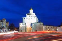 Vladimir guld- port Fotografering för Bildbyråer