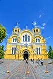 Vladimir katedry Volodymyrsky aka katedra w Kijów, Ukraina, Obrazy Stock