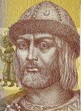 Vladimir le grande sul closeu 2014 della banconota di hryvnia dell'ucranino 1 Fotografia Stock