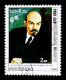 Vladimir Lenin 1870-1924, il 115th anniversario della nascita del serie di Lenin, circa 1985 Immagine Stock Libera da Diritti