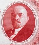 Vladimir Lenin-Porträt auf Russland 3-Rubel-Banknotenabschluß 1937 Lizenzfreie Stockfotos