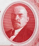 Vladimir Lenin portrait on Russia 3 rouble 1937 banknote close. Up, Russian communist revolutionary, politician and marxism theorist Royalty Free Stock Photos