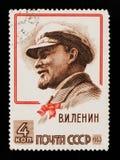 Vladimir Lenin Ulyanov portret, 93rd rocznica narodziny Lenin, około 1963 Fotografia Royalty Free