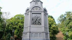 Vladimir monument (Vladimir the Great aka Great Prince of Kiev) in Kyiv, Ukraine, stock video