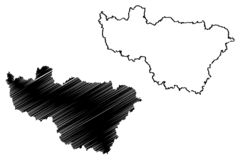 Vladimir Oblast mapy wektor royalty ilustracja