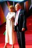 Vladimir Pozner au festival de film de Moscou Images stock