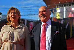 Vladimir Pozner at Moscow Film Festival Stock Photo