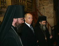 Vladimir Putin. The president of Russia Vladimir Putin In Jerusalem, Holy Sepulchre stock image