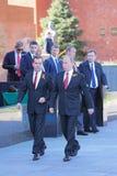 Vladimir Putin and Dmitry Medvedev Stock Images