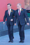 Vladimir Putin and Dmitry Medvedev Royalty Free Stock Photos