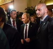 Vladimir Putin durante una reunión sobre la cumbre de ASEM Imagen de archivo libre de regalías