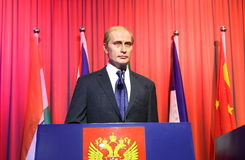 Vladimir Putin, estatua de la cera, figura de cera, figura de cera Imágenes de archivo libres de regalías