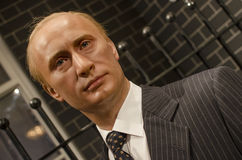 Vladimir putin. In the famous wax museum Madame tussauds london, england stock images
