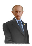 Vladimir Putin karikatyrstående Arkivbilder