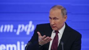Vladimir Putin stock video footage