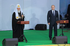 Vladimir Putin and Patriarch Kirill Stock Image