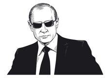 Vladimir Putin portrait stock illustration