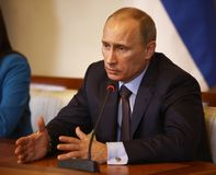 Vladimir Putin President van Rusland Royalty-vrije Stock Fotografie