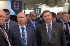 Vladimir Putin and Sergei Ivanov Royalty Free Stock Photos