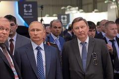 Vladimir Putin and Sergei Ivanov Royalty Free Stock Photos