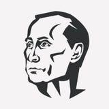 Vladimir Putin stilisierte Vektorporträt stock abbildung