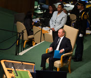 Vladimir Putin on 70th session of the UN General Assembly Stock Photo