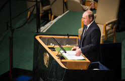 Vladimir Putin on 70th session of the UN General Assembly Royalty Free Stock Photos