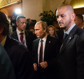 Vladimir Putin tijdens een vergadering over de ASEM-top Royalty-vrije Stock Afbeelding