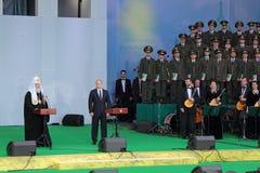 Vladimir Putin und Patriarch Kirill Lizenzfreie Stockfotografie