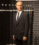 Vladimir Putin. Wax statue at Madame Tussauds in London royalty free stock image