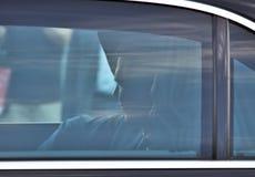 Vladimir Putinowski obsiadanie w jego samochodzie na 5th Czerwu, 2018 obrazy stock
