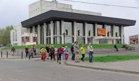 Vladimir, Rússia - 6 de maio 2018 Vladimir Academic Drama Theater foto de stock royalty free