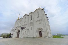Vladimir, Rússia - 6 de maio 2018 Vladimir Cathedral Holy Assumption Cathedral fotos de stock royalty free