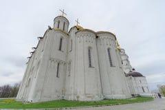 Vladimir, Rússia - 6 de maio 2018 Vladimir Cathedral Holy Assumption Cathedral fotografia de stock royalty free