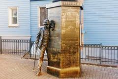 VLADIMIR, RÚSSIA 27 DE SETEMBRO DE 2017: Monumento em St George Str imagem de stock royalty free