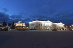 Vladimir Rosja, Listopad, - 05 2015 Children szkoły artystycznej wewnątrz past małomiasteczkowa sala gimnastyczna dla chłopiec, b Obrazy Stock