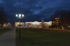 Vladimir Rosja, Listopad, - 05 2015 Widok katedra kwadrat przy nocą Zdjęcie Royalty Free