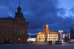 Vladimir Rosja, Listopad, - 05 2015 Widok katedra kwadrat przy nocą Obrazy Stock