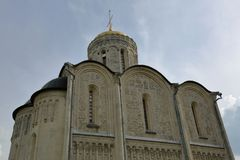 St Demetrius Cathedral of the 12th century in Vladimir, Russia royalty free stock photo