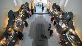 VLADIMIR, RUSSIA -07,11,2015 Museo del cristallo archivi video