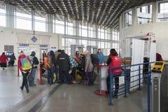 Vladimir, Russia - 18 novembre 2016 L'interno della stazione ferroviaria Fotografia Stock Libera da Diritti