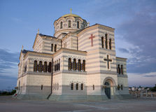 Vladimir Russian orthodox cathedral in Chersonesus Stock Image