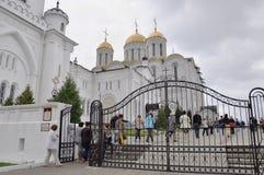 VLADIMIR, RUSSIE, le 29 août 2015 : Le monument historique de Vladimir Assumption Cathedral par l'UNESCO en tant qu'élément du d' Image stock