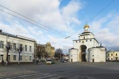 VLADIMIR RYSSLAND -05 11 2015 guld- port Arkivfoton