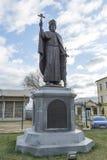 VLADIMIR RYSSLAND -05 11 2015 monument Duke Vladimir, grundare av staden guld- turist- cirkel Arkivfoto