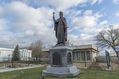 VLADIMIR RYSSLAND -05 11 2015 monument Duke Vladimir, grundare av staden guld- turist- cirkel Arkivbilder