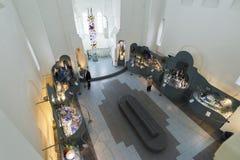 VLADIMIR RYSSLAND -07,11,2015 Museum av kristallen Arkivfoton