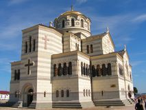 Vladimir's cathedral. The biggest orthodox cathedral in sevastopol, ukraine Royalty Free Stock Images